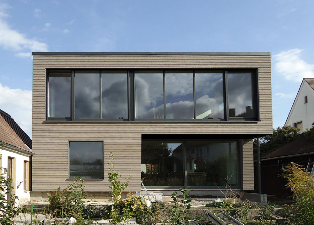 Fassadenschalung mit Rhombusleisten